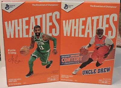 2018 Nba Boston Celtics Point Guard #11 Kyrie Irving Wheaties Cereal Box Sealed
