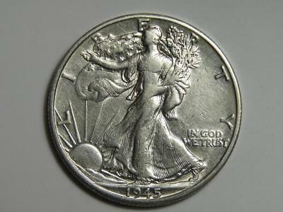 1945-D Walking Liberty Half Dollar - 90% Silver