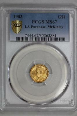 1903 Louisiana Purchase Mckinley Gold $1 Dollar MS67 PCGS US Mint Commemorative
