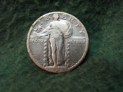 1923 S  Standing Liberty Quarter Date is Clear  90% Silver 25 Cent Coin KEY DATE