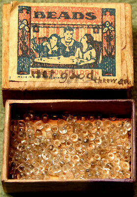 Old Match Box Cracker Jack Pop Corn Confection Toy Prize Beads For Good Children