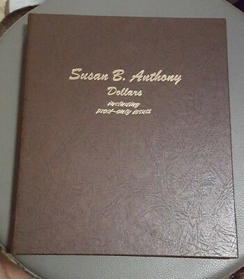 Susan B Anthony Dollars Book proof issues dollar Dansco coin library