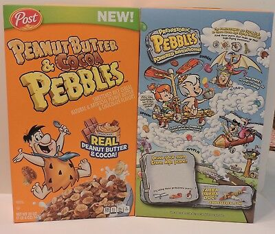 2018 Peanut Butter & Cocoa Pebbles Special Edition Cereal Box Sealed
