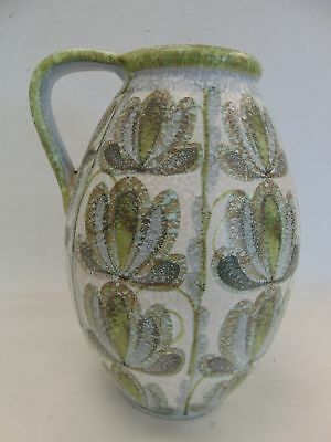 Large Vintage Decorative DENBY Stoneware Vase With Handle Floral Design - R29
