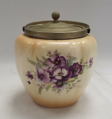 Vintage CROWN DEVON FIELDINGS Biscuit Barrel - H29