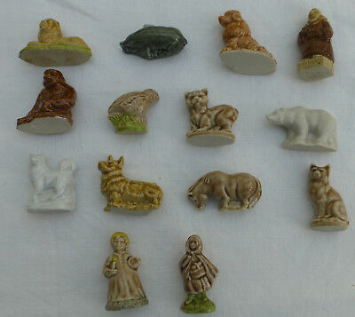 Fourteen WADE Whimsies 2 NURSERIES, FATHER ABBOT + 11 ANIMALS