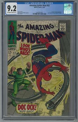 Amazing Spider-Man #53 CGC 9.2 (OW-W) Peter Parker and Gwen Stacy's 1st Date