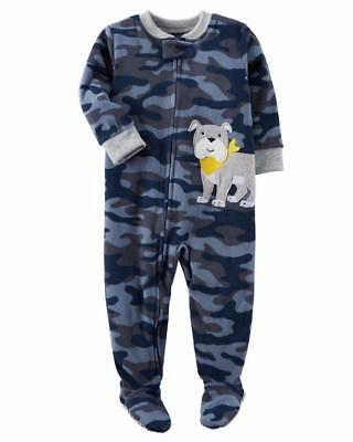 049955fd3 CARTER S® TODDLER BOY 4T Moose Striped Footed Pajama or Fleece ...