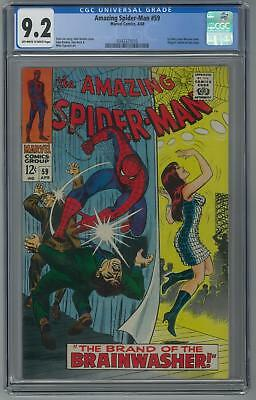Amazing Spider-Man #59 CGC 9.2 (OW-W) 1st mary Jane Watson Cover