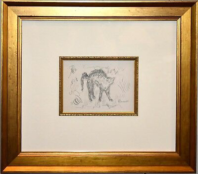 Pierre Bonnard Lithograph, Le Vent des Epines, 1947, Framed, Signed in the Stone