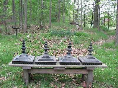 Antique Victorian Cast Iron Architectural Salvage Fence Post Tops Large Finials