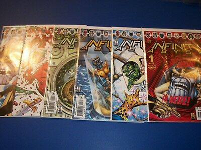Infinity Abyss #1,2,3,4,5,6 Complete Set NM-/NM Gems Thanos Lot Run Gauntlet War