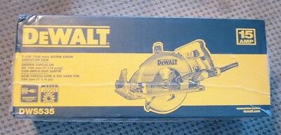 "DeWalt DWS535 7-1/4"" Worm Drive Circular Saw 15AMP Toughcord Blade included NEW"
