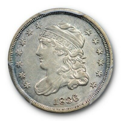 1836 Capped Bust Half Dime H10C Large 5C  PCGS AU 55 About Uncirculated Type Coi