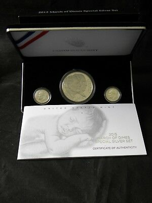2015 March of Dimes Special Silver Set w/ Reverse Proof Dime