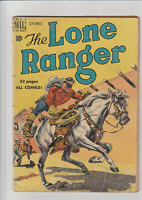 Lone Ranger #27 (1950, Dell) G painted cover
