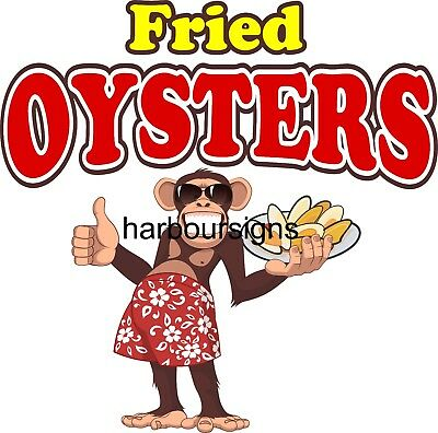 Smoked Oysters DECAL (Choose Your Size) Monkey Concession Food Sticker