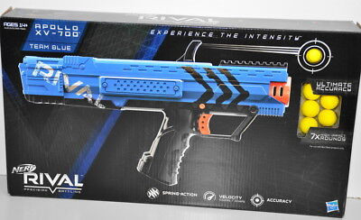Nerf Rival Apollo XV-700 Team Blue in the Box Includes Blaster magazine 7 Rounds