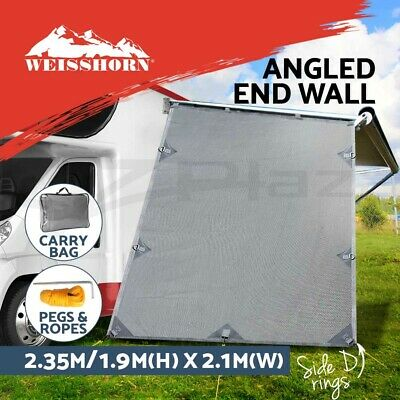 Caravan Roll Out Awning Privacy Screen End Wall/ Side Sunscreen Sun Shade Grey