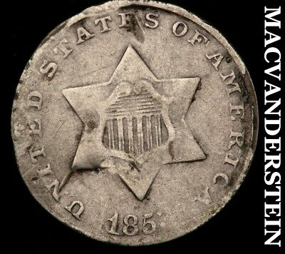 1853 Three Cent Silver - Scarce!!  Better Date!!  #a28