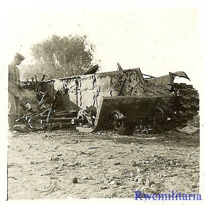 TOTAL LOSS! Heavily Hit Gutted KO'd Russian KV-1 Panzer Tank on Road!!!