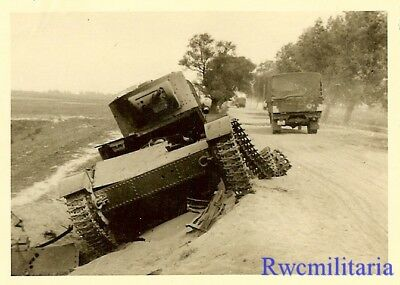 JUNK! KO'd Russian T-26 Panzer Tank Sitting on Side of Highway!!!