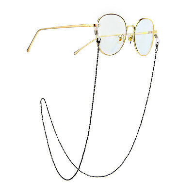 Black Eyeglass Cord Reading Glasses Eyewear Spectacles Chain Strap Holder