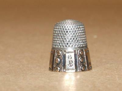 Vintage Antique Sterling Silver & Gold Filled Thimble With Hallmark