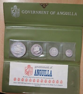 Anguilla 1967 ,4 coin Proof Set