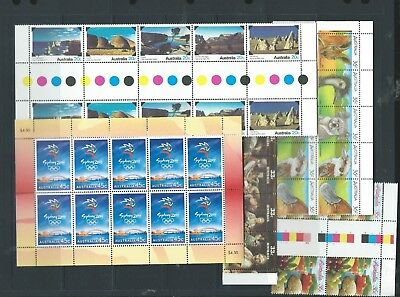 Australian mint (full gum) stamps, postage or Collector, blocks, gutters FV $65