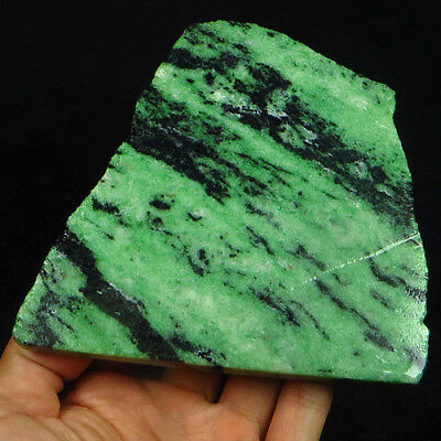 1234.5CT 100% Natural Red Green Bi Color Ruby In Zoisite Rough Specimen YGB16