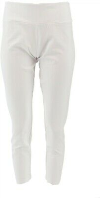 Women with Control Petite Tummy Control Slim Ankle Pants White PM NEW A286521