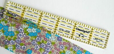1 x 6 inch OmniGrid Ruler ~ Handy Measure for Patchwork Quilting Sewing