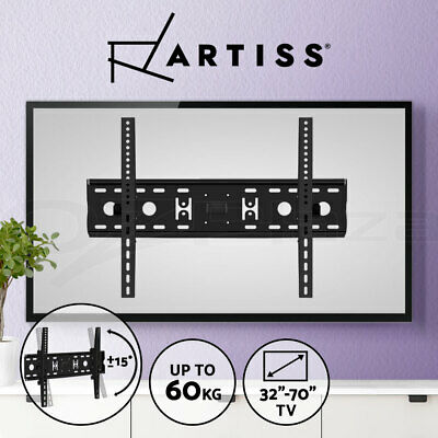 Artiss TV Wall Mount Bracket Tilt Flat LED LCD 32 42 46 50 52 55 60 65 70 inch