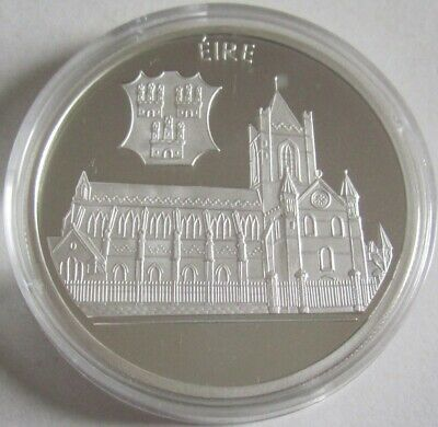 Irland 10 Euro 1996 St. Patrick's Cathedral in Dublin Silber
