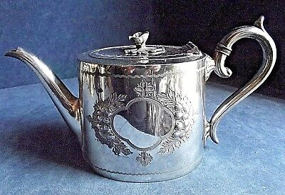 SUPERB Victorian ~ SILVER Plated ~ ORNATE Engraved ~ TEAPOT ~ c1890