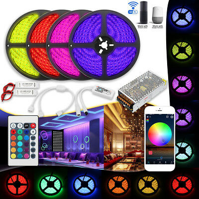 15/20M RGB 300LED WIFI App Control Light Strip Set 5050 2835SMD Alexa Smart Home