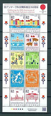 Japan 2017 150 Years Diplomatic Relations Between Japan And Denmark Mnh Vf