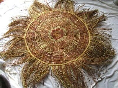 Huge Aboriginal Hand Woven mat or wall hanging from Elcho Island NT