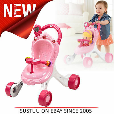 Fisher-Price Princess Mommy Stroll-Along Musical Walker│With Fun Songs & Sounds