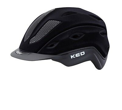 KED Xilon Reithelm Reitkappe Helm Schwarz Flock Modell 17 Made in Germany