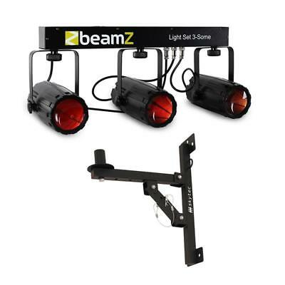 PACK JEU DE LUMIERE 57 LED 3x EFFET LUMINEUX MOONFLOWER SUPPORT MURAL BARRE EN T