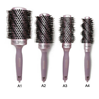 Ceramic & Nylon Hair Round Brush Quiff Roller Curly Comb Massager Hairbrush