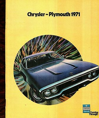 1971 Chrysler  -  Plymouth Full-Line Deluxe Sales Catalog - Car Literature