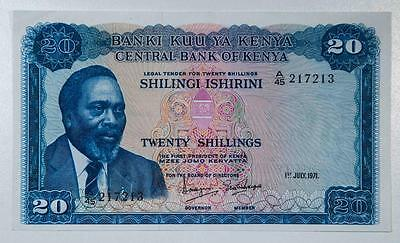 1971 Kenya 20 Shillings Item#A1287