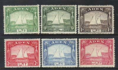 Aden 1937 Dhows Sg1-6 Mh Cat £37+
