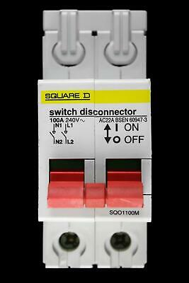 Square D 100 Amp Double Pole Main Switch Disconnector Sqo1100M