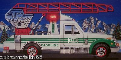 1994 Hess Full Size Rescue Truck Nib Siren Horn Lights