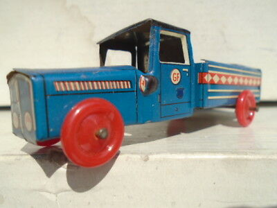 Vintage Tinplate Truck Made In Western Germany Excellent Condition