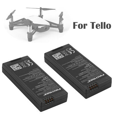 2x Battery 1100mAh 3.8V Lipo 4.18Wh 13min Flight for DJI Tello Hobby Drone RC765